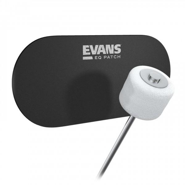 Evans Cordura Double EQ Black Nylon Patch, Pack of 2