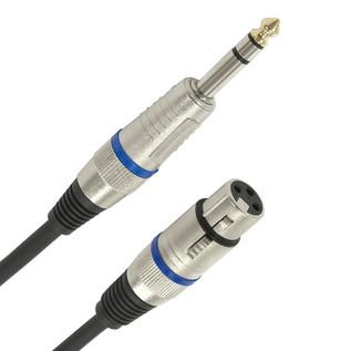XLR (F) - Balanced 1/4'' Jack Pro Cable, 1m