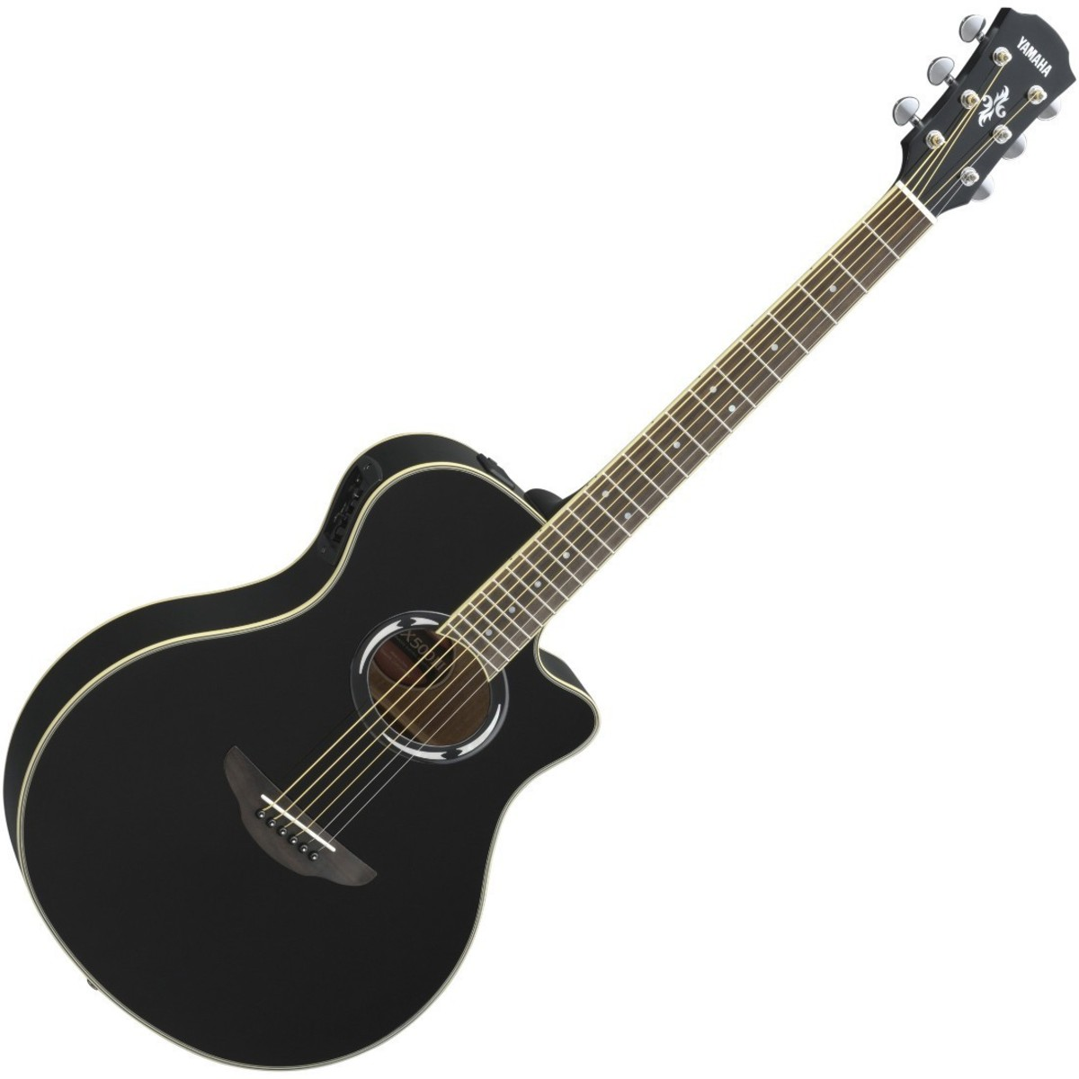 Yamaha apx500 iii electro acoustic guitar black at for Yamaha acoustic bass guitar