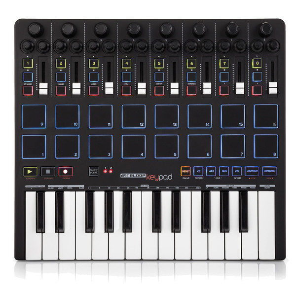 Reloop KeyPad MIDI Controller with Pads and Keyboard