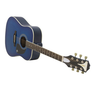 Epiphone Pro-1 Acoustic Guitar for Beginners, Trans Blue