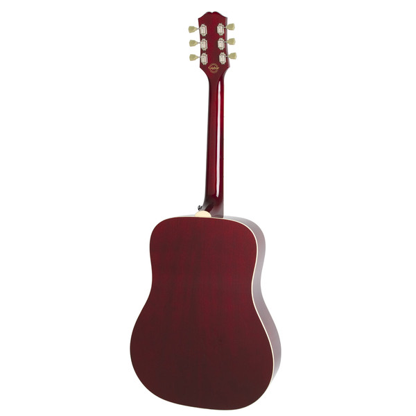 Epiphone Pro-1 PLUS Acoustic Guitar for Beginners, Wine Red