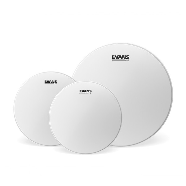 Evans G2 Coated Fusion Tom Pack 10, 12, 14'' Heads