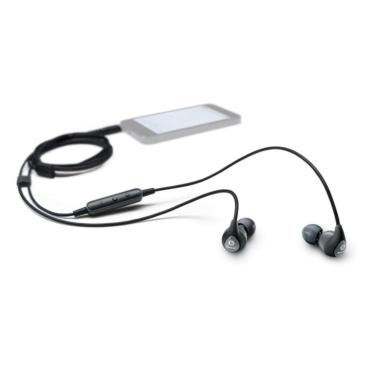 Wireless bluetooth headphones treblab - Shure SE112m+ - earphones with mic Overview