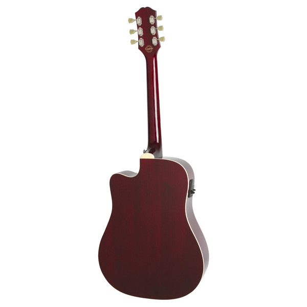 Epiphone Pro-1 ULTRA Electro Acoustic Guitar for Beginners, Wine Red
