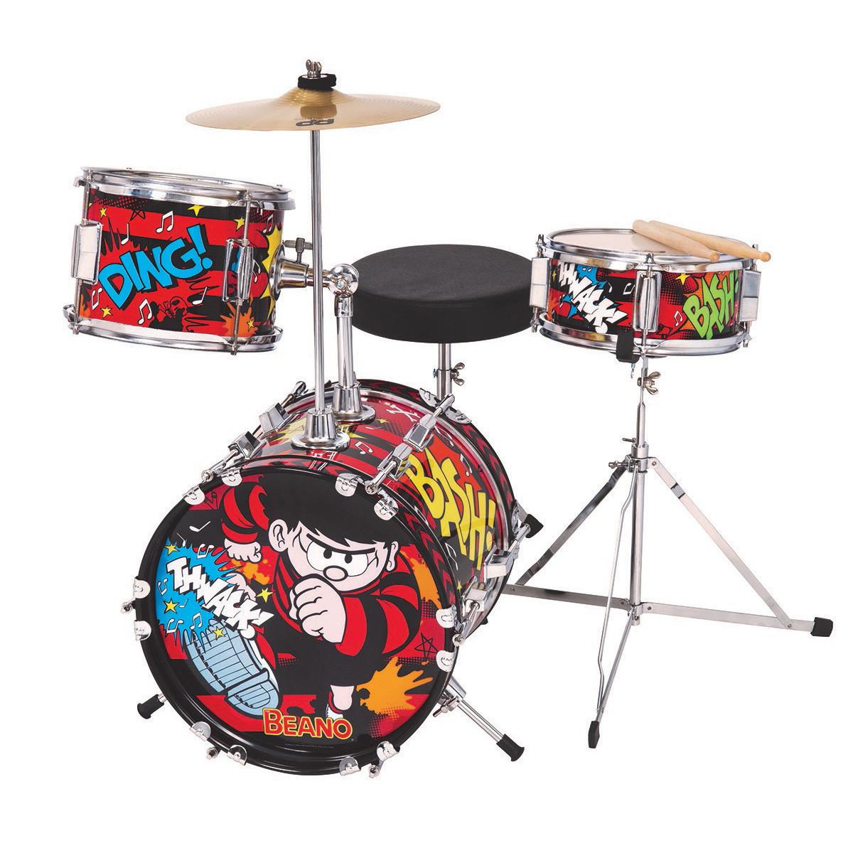 the beano 3 piece junior drum set at. Black Bedroom Furniture Sets. Home Design Ideas
