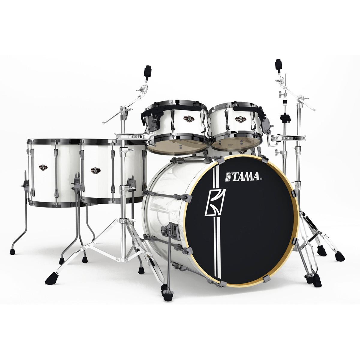 Tama Superstar Hyper-Drive 22'' 6 Piece Drum Kit, Sugar White