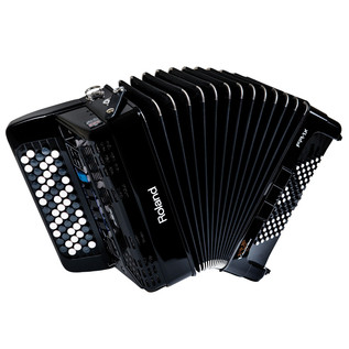 Roland FR1 Compact V- Accordion  with Speakers - Button Type - Black
