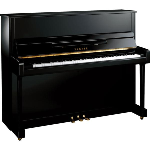 Yamaha B3 Upright Acoustic Piano, Black Polyester