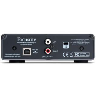 Focusrite Scarlett Solo USB Audio Interface (Back Panel)