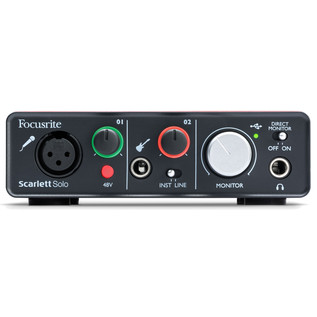 Focusrite Scarlett Solo USB Audio Interface (Front Panel)