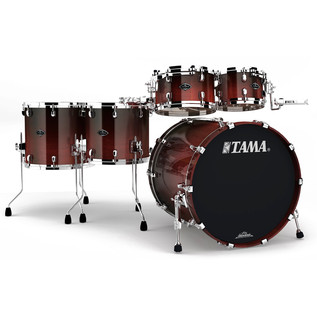Tama Starclassic Performer B/B 4 Piece Shell Pack, Dark Cherry Fade