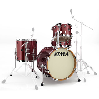 Tama Silverstar 18in 4 Piece Shell Pack, Vintage Burgundy Sparkle