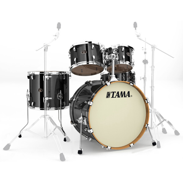 Tama Silverstar 22'' 5 Piece Shell Pack, Brushed Charcoal Black