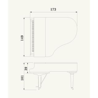 Yamaha CX2 Grand Piano, Black Polyester