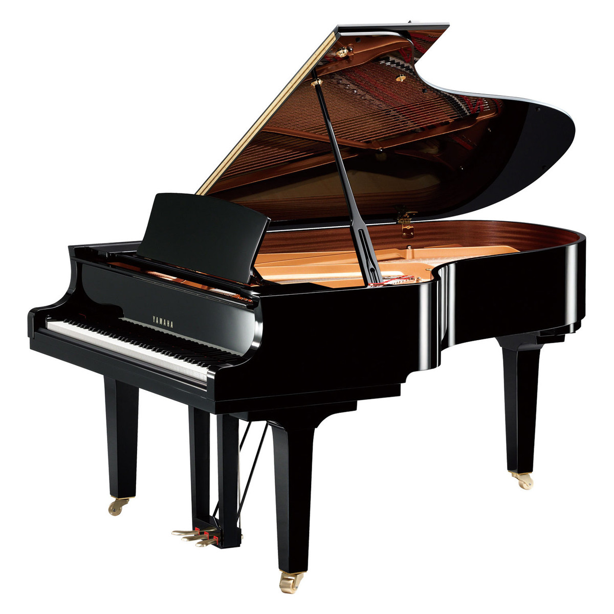 yamaha c5x grand piano polished ebony at gear4music. Black Bedroom Furniture Sets. Home Design Ideas