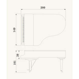 Yamaha CX5 Grand Piano, Black Polyester
