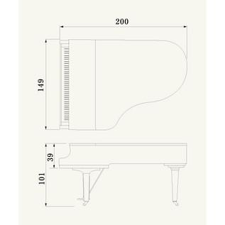Yamaha CX5 Grand Piano, Black Polyester