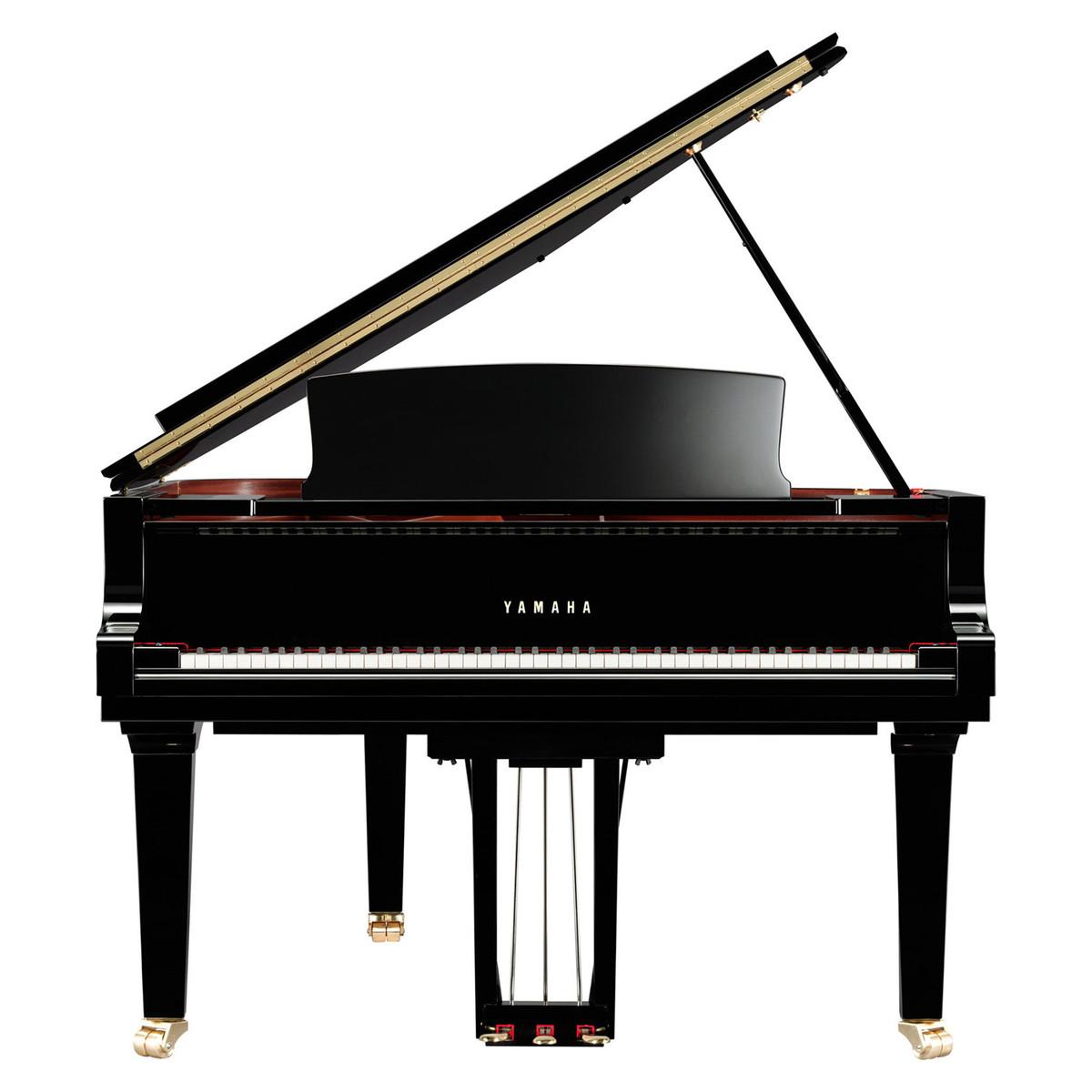 Yamaha c6x grand piano polished ebony at for Yamaha mini grand piano price