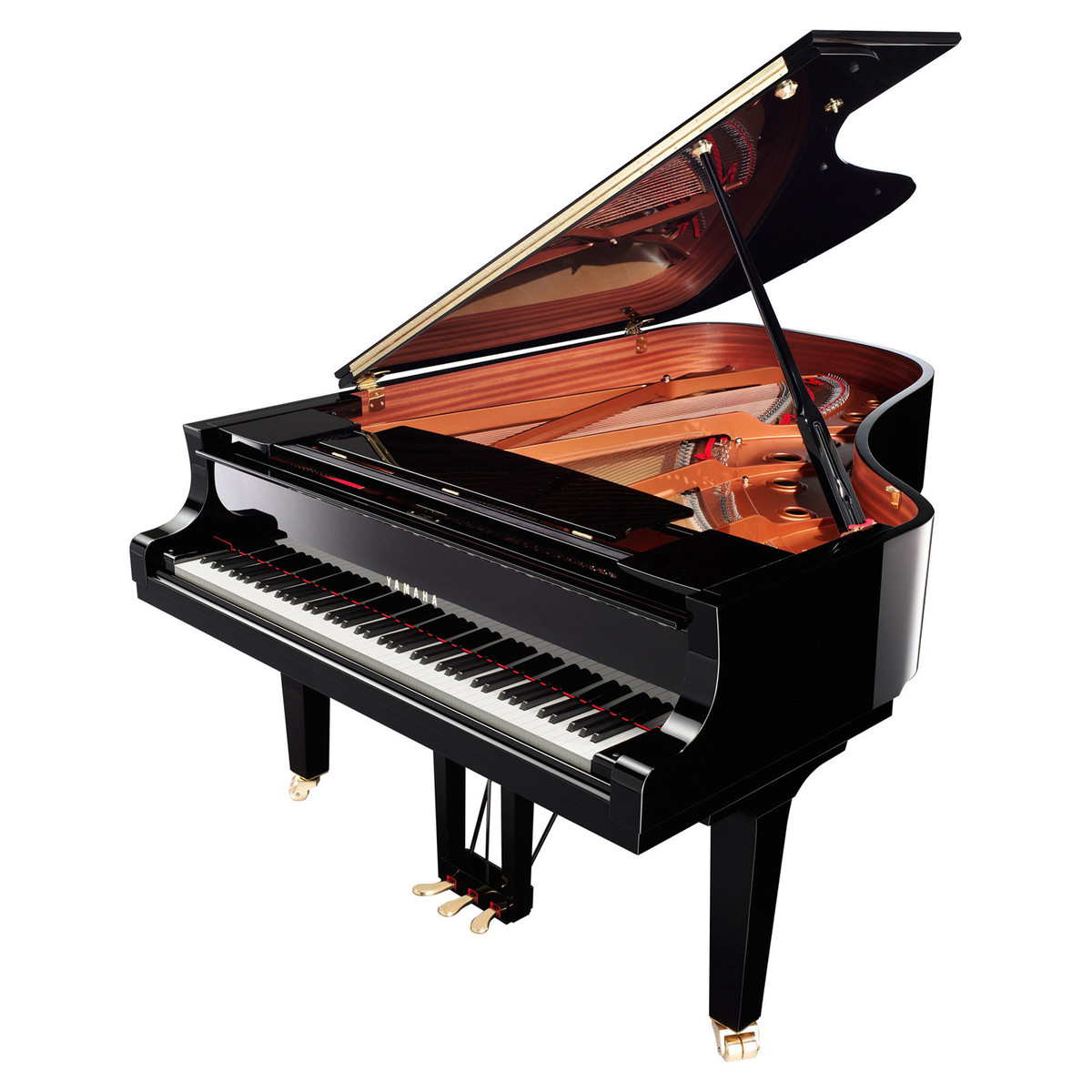 yamaha c6x grand piano polished ebony at gear4music
