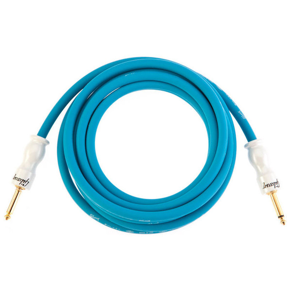 Gibson Premium 12' (3.65m) Instrument Cable, Blue / Pearl Connector