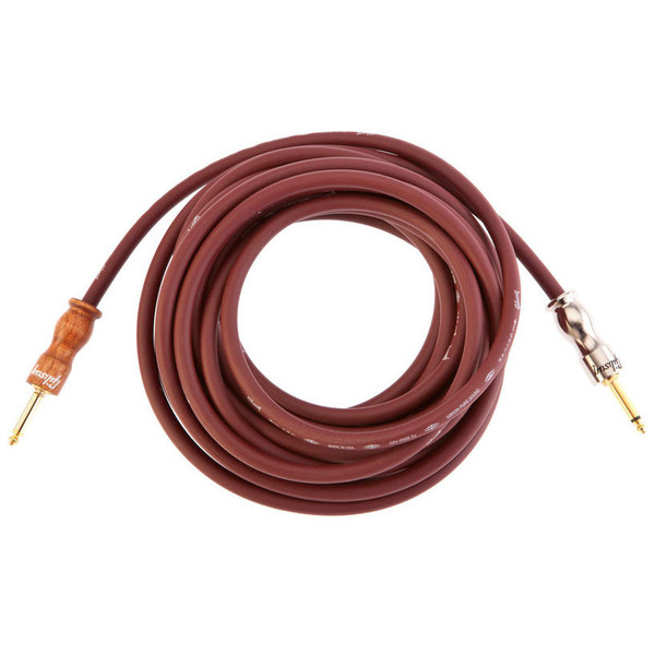 Gibson Premium 25' (6.4m) Instrument Cable, Cherry/Cherrywood