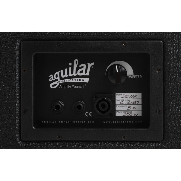 "Aguilar DB Series 12"" Speaker Cabinet, 8ohm Classic Black"