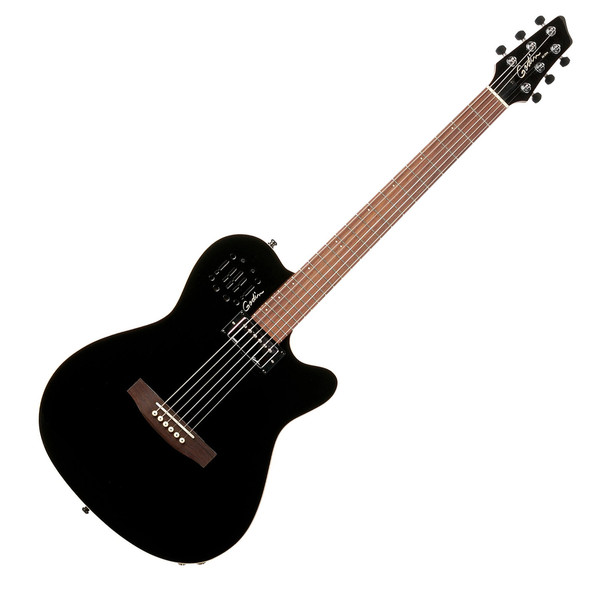 Godin A6 Ultra Guitar, Black High Gloss