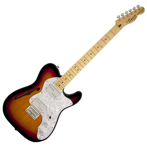 Squier by Fender Vintage Modified 72 Thinline, MN, 3 Tone Sunburst