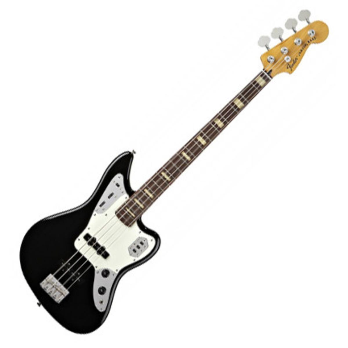 fender deluxe jaguar bass black at gear4music. Black Bedroom Furniture Sets. Home Design Ideas