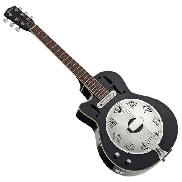 Ozark Resonator Guitar L/H, Wooden Body, Cutaway Electrics