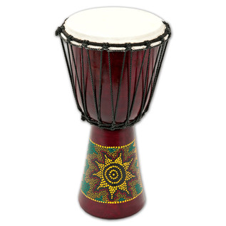 Percussion Plus PP6640 Sun/Rainbow Djembe, 40cm