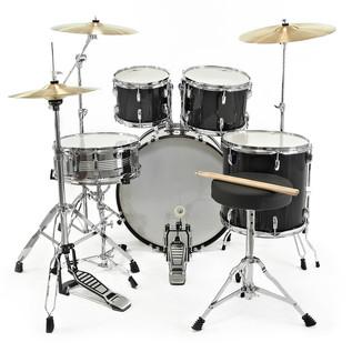 GD-7 Fusion Drum Kit by Gear4music, Black Sparkle
