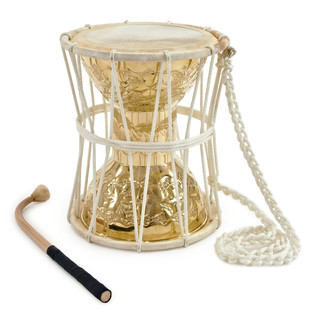 Brass Talking Drum with Bag by Gear4music