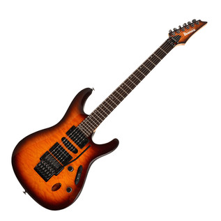 Ibanez Prestige S5570Q Electric Guitar, Regal Brown Burst