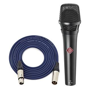 Neumann KMS 105 Vocal Mic, Black with Free Neutrik 6m XLR Cable