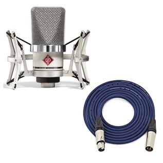 Neumann TLM 102 Studio Microphone Set, Nickel with Free Neutrik 6m XLR Cable