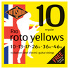 Rotosound R10 Roto Yellow Nickel Electric Guitar Strings, 10-46