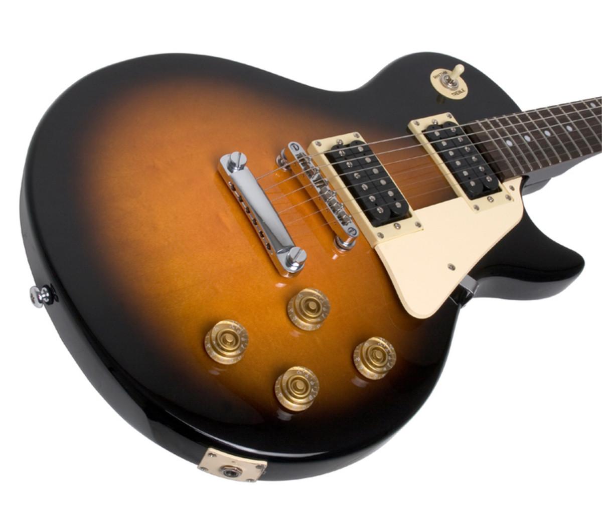 epiphone les paul 100 electric guitar vintage sunburst ex demo at rh gear4music com Epiphone Les Paul Jr Pickguard Epiphone Les Paul Jr Pickguard
