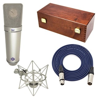 Neumann U87 AI Studio Microphone Set, Nickel with Free Neutrik 6m XLR Cable