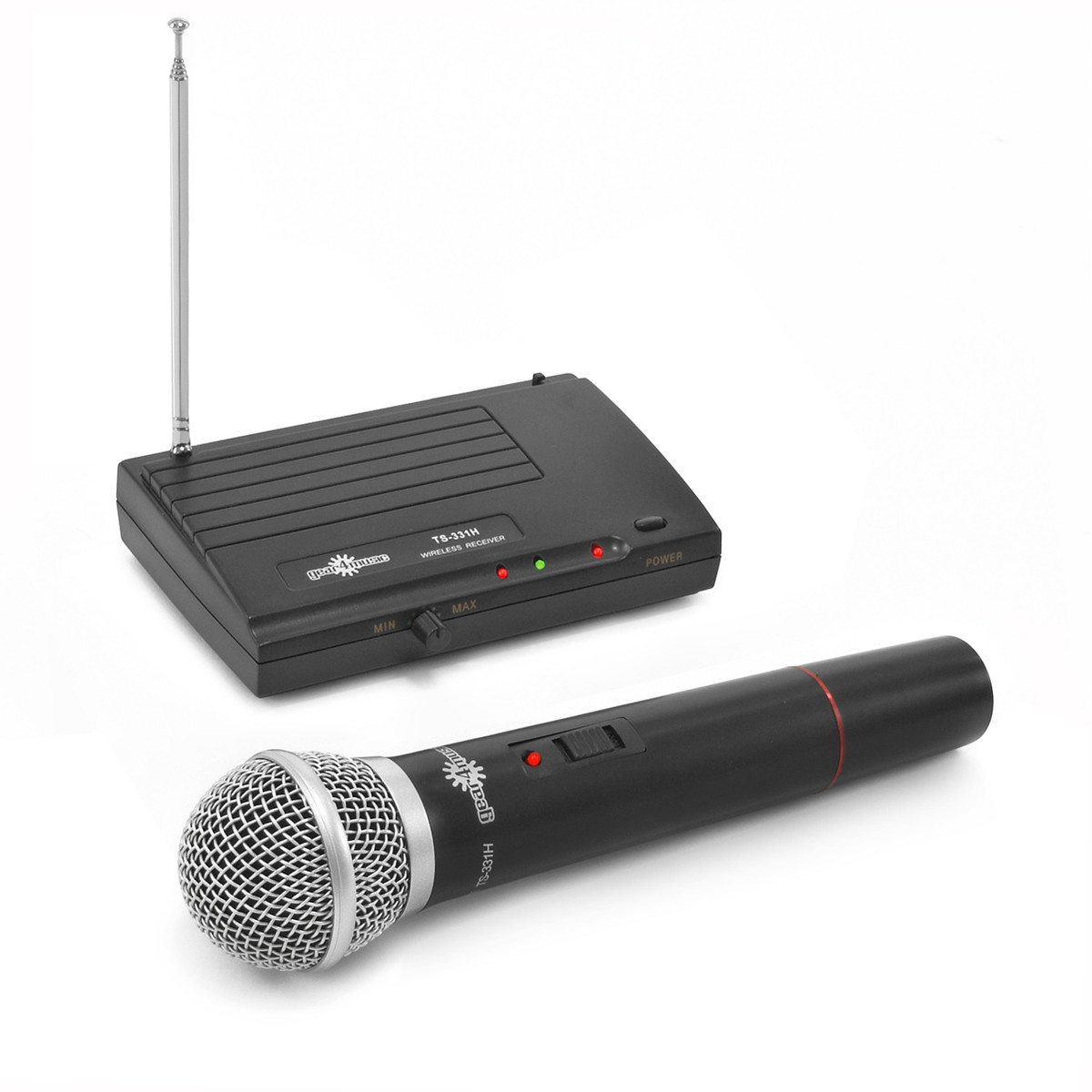 single wireless microphone system by gear4music gear4music. Black Bedroom Furniture Sets. Home Design Ideas