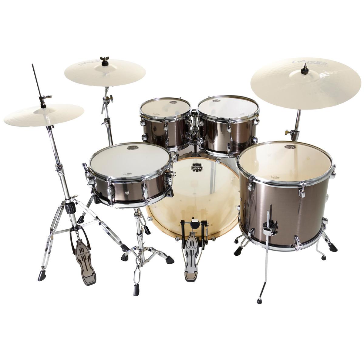 mapex horizon ii 22 39 39 rock fusion drum kit grey steel at gear4music. Black Bedroom Furniture Sets. Home Design Ideas
