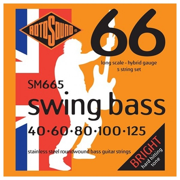 Rotosound Swing Bass 66  5-String Bass Guitar Strings, 40-125