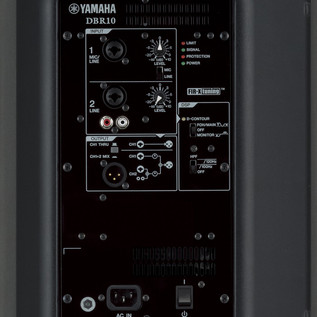 Yamaha DBR 10 Active PA Speaker rear panel