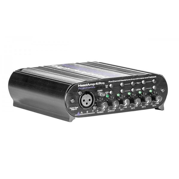 Art HeadAmp 4 Pro, Five Channel Headphone Amplifier with Talkback