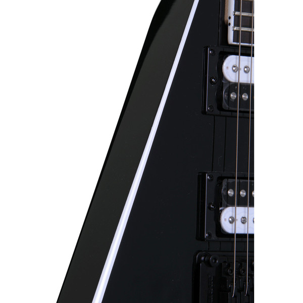 Jackson JS32 Rhoads Electric Guitar, Black with White Bevels