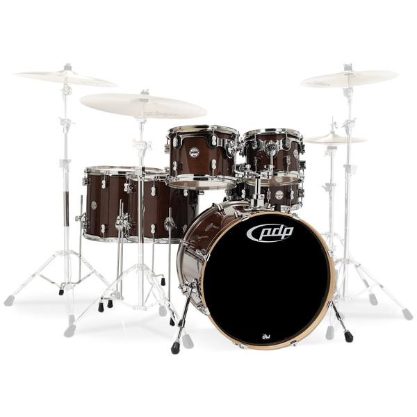PDP Drums Concept Maple 22'' CM6 Shell Pack, Transparent Walnut