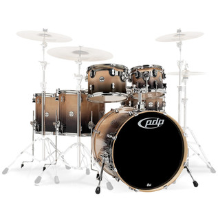 PDP Drums Concept Birch 22'' CB6 Shell Pack, Natural to Charcoal Fade