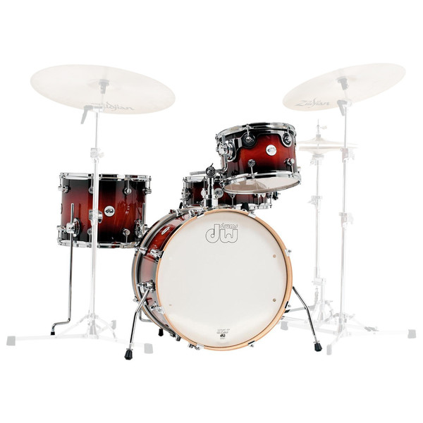 DW Frequent Flyer Gloss Lacquer 20'' Maple Shell Pack, Tobacco Burst
