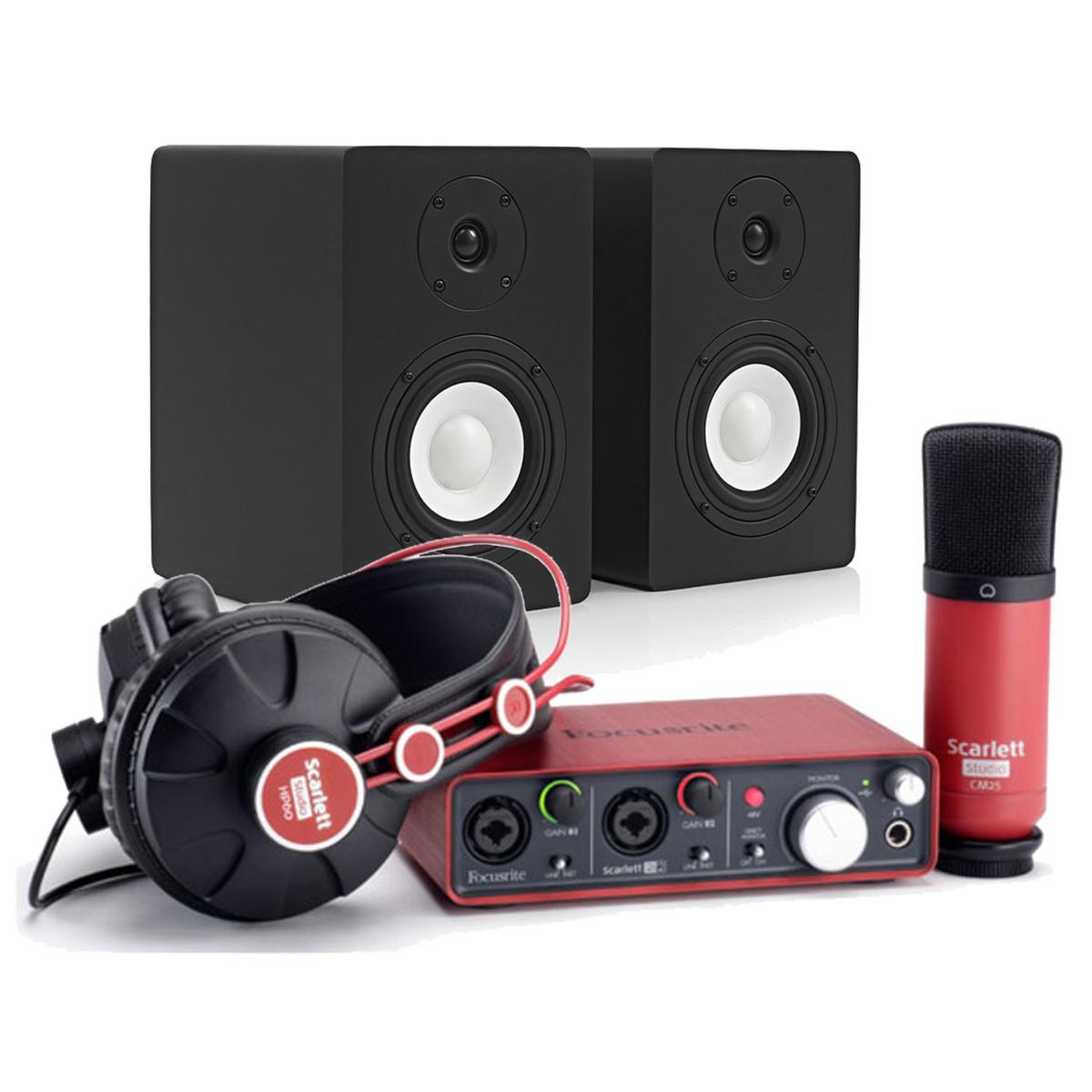 focusrite scarlett pack enregistrement studio avec moniteurs subzero sz 5a. Black Bedroom Furniture Sets. Home Design Ideas